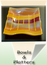 fused Glass Bowls, Plates